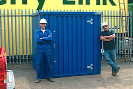 Storage container ready for use