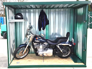 Secure Motorcycle Container