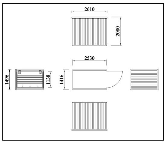 Motorcycle secure storage dimensions